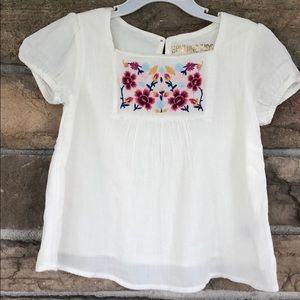 Little girls boho shortsleeved shirt